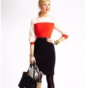kate spade color block dress size 6
